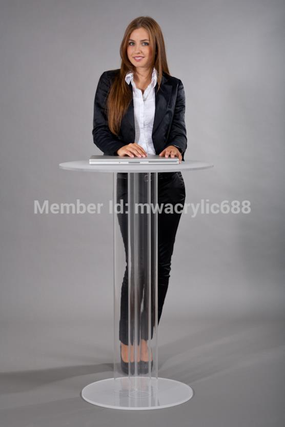 Pulpit Furniture Free Shipping Transparent Modern Design Simple Cheap Clear Acrylic Lectern Acrylic Podium Plexiglass