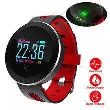 Heart Rate Monitor Smart Watch Sports Blood Pressure Pedometer Running OLED Touch Waterproof Fitness Intelligent Watch Men Women