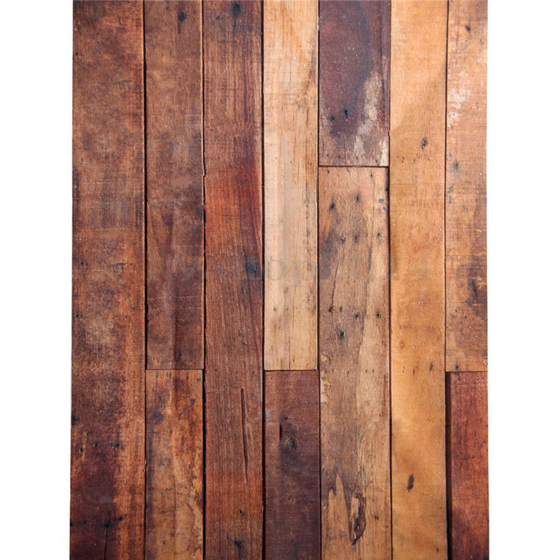 5X7ft Wooden Wall Floor Vinyl Photography Background For Studio Photo Props Photographic Backdrops Cloth 210 x 150cm