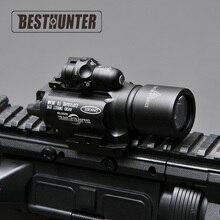 Верный светодиодный оружие X400 пистолет фонарик с красным лазерный прицел для Охота