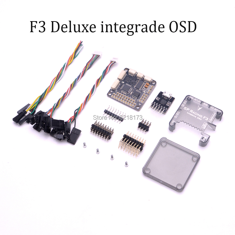 PRO SP Racing F3 Acro / Deluxe Flight Controller Integrate OSD with Protective shell case for QAV-X 214 Robocat 270 Quadcopter micro minimosd minim osd mini osd w kv team mod for racing f3 naze32 flight controller