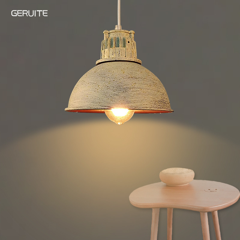 GERUITE Vintage Pendant Lights Edison Light Lampshade E27 Industrial Retro Lamp Loft Corridor Bedroom Cafe Ceiling Lamp vintage edison chandelier rusty lampshade american industrial retro iron pendant lights cafe bar clothing store ceiling lamp