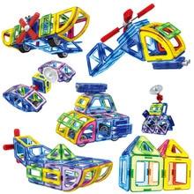 2017 New Magnetic Designer Educational Building Blocks Police Series Aircraft 70pcs/Set Assemble Bricks Toys Kids Christmas Gift