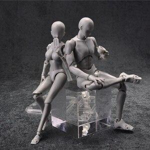 Image 1 - 14cm femme et homme figurine jouets Anime poupée mobile corps joint Mannequin bjd artiste Art peinture dessin corps modèle poupées