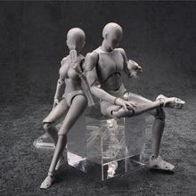14cm kadın ve erkek aksiyon figürü oyuncakları Anime bebek hareketli vücut eklem manken bjd sanatçı sanat resim çizim vücut model bebekler