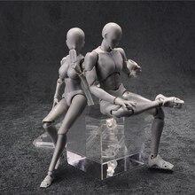 14cm נשי & זכר פעולה איור צעצועי אנימה בובת מטלטלין גוף משותף בובת bjd אמן אמנות ציור ציור גוף דגם בובות