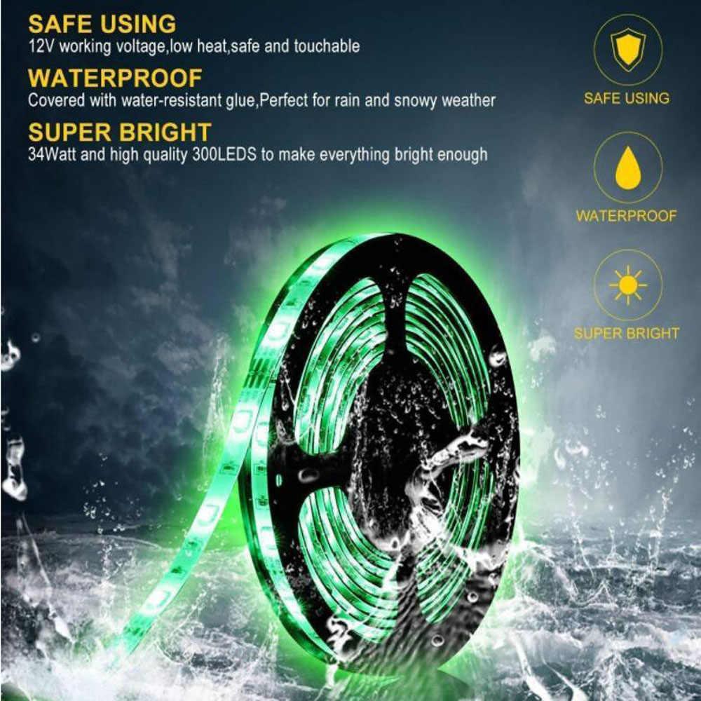 SMD 5050 DC12V 60 LED/M 2 M 5 M Fleksibel Tahan Air Lampu LED RGB RGBW White Warm White 5050 Taman LED Strip Lampu