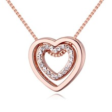 Heart Crystal From Swarovski Necklaces & Pendants 18K Gold And Silver Plated 2016 Harry Necklace Women Fashion Jewelry