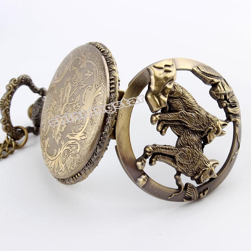 Антиквариат Қола Қарапайым Дизайн - Қалта сағаты - фото 3
