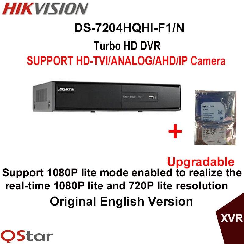 все цены на Hikvision Original English Version DS-7204HQHI-F1/N Turbo HD DVR SUPPORT 2MP HD-TVI/AHD/Analog/IP Camera Build-in HDD 1/2/3/4T онлайн