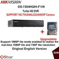 Hikvision Original English Version DS 7204HQHI F1 N Turbo HD DVR SUPPORT 2MP HD TVI AHD