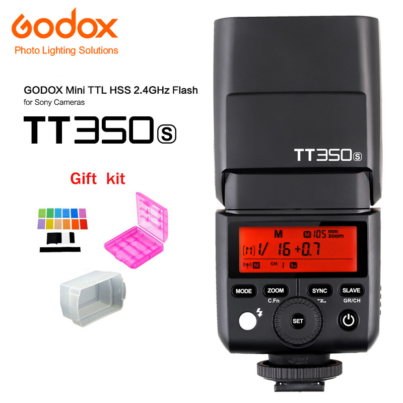 Godox Mini Speedlite TT350S Camera Flash TTL HSS GN36 for Sony Mirrorless DSLR Camera A7R A7RII A58 A99 A6000 DSLR godox mini speedlite tt350s tt350n tt350c tt350o camera flash ttl hss for sony mirrorless dslr camera a7s a6000 a6500 series