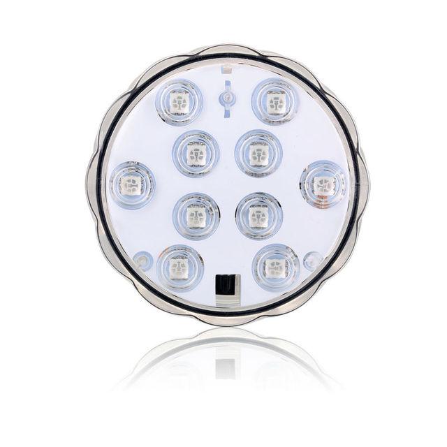 mini led verlichting batterij 10 leds multi color afstandsbediening submerisible vaas licht voor bruiloft decoratie
