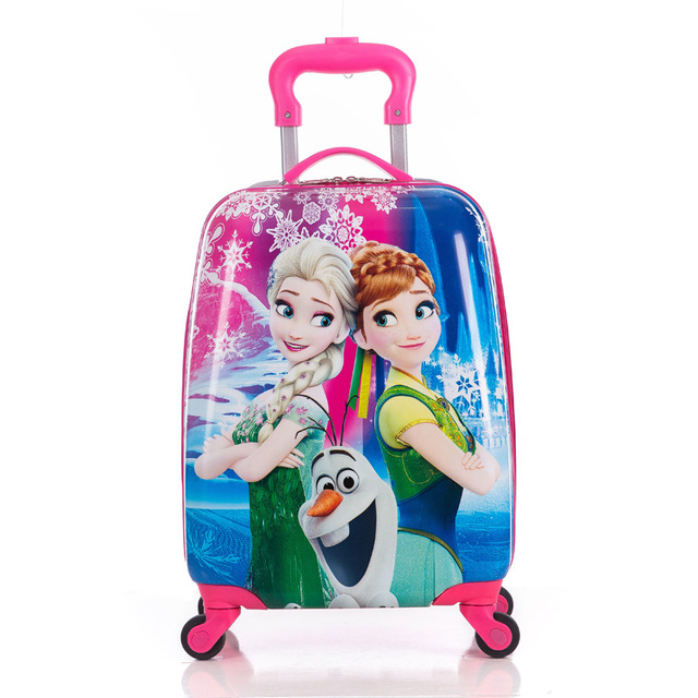 Children's Suitcase Child Trolley case Luggage kids Schoolbags travel Suitcase with Wheels 3D Cartoon Travel case kid's Toys box
