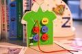 2 colors Children weaving loom knit cloth/ Kids Child Seam button game wooden toys/Kindergarten school DIY handmade toys