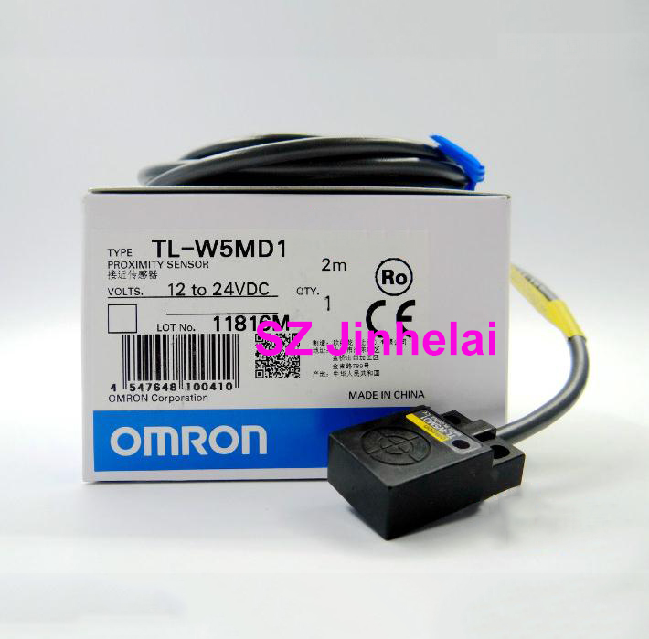 цена на 100% Authentic original TL-W5MD1 OMRON Proximity switch, Proximity sensor 12-24VDC 2M