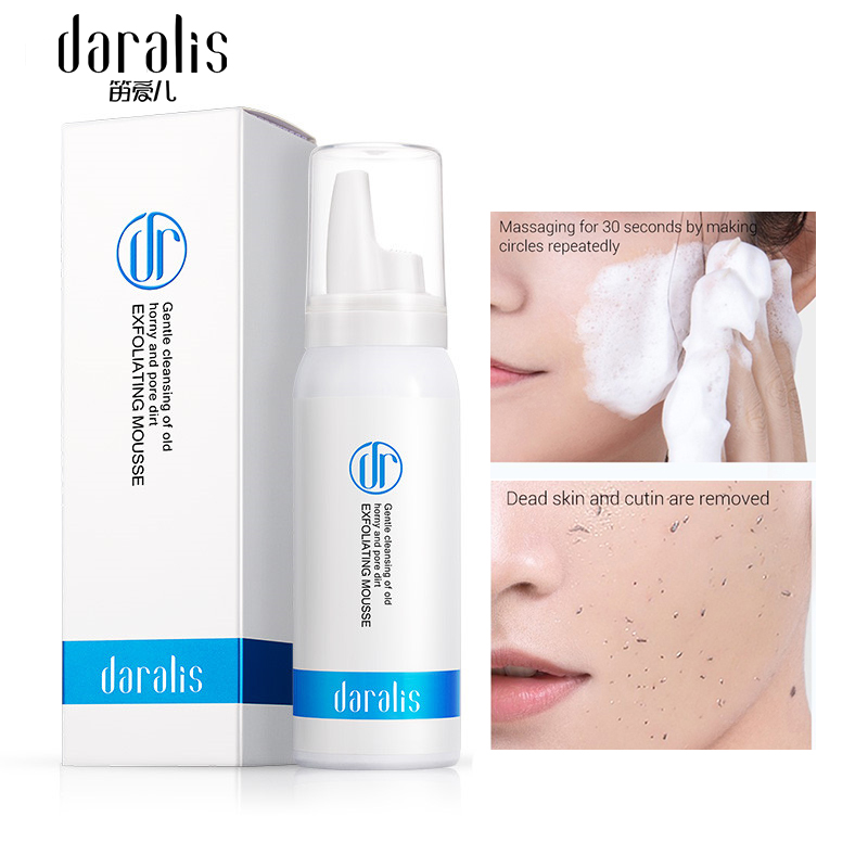 Daralis Face Exfoliating Mousse Face Peeling Shrink Pores Removal Blackhead Skin Care For Face Scrub Moisturizing Whitening Gel