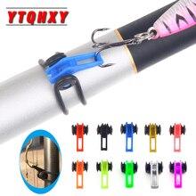 YTQHXY 10Pcs/Bag Plastic Fishing Hook Keeper For Fishing Rod
