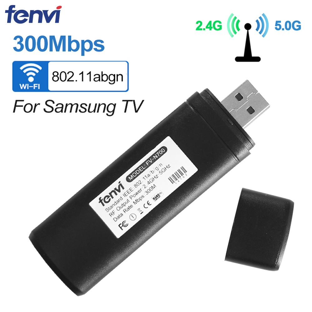 Fenvi Dual band 300Mbps Wireless USB WiFi Lan Adapter Ralink RT3572 Dongle 2.4G/5Ghz WIS12ABGNX WIS09ABGN for Samsung Smart TV(China)