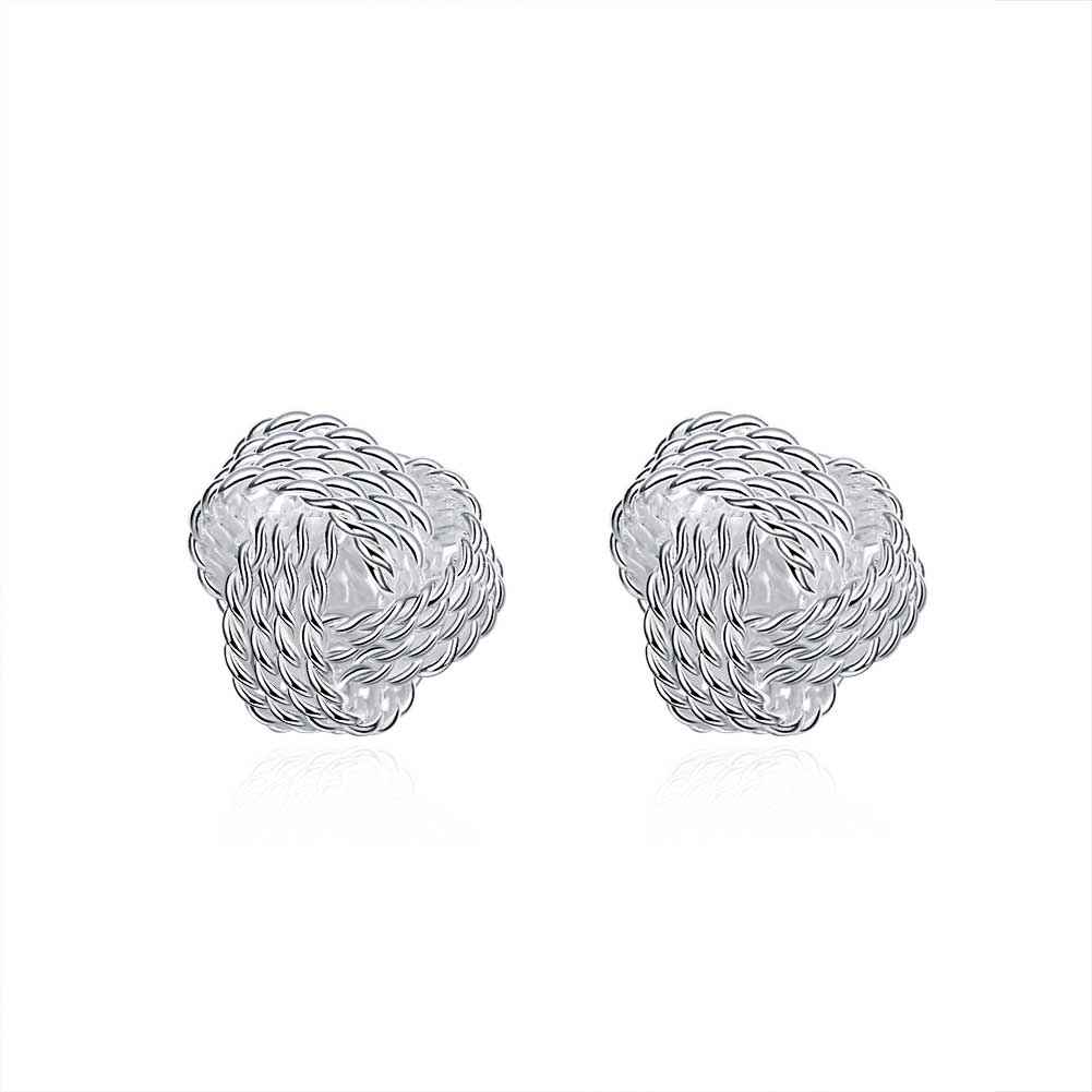 Free Shipping Vintage Love silver plated earing Fashion Tennis stud orecchini jewellery SMTE013