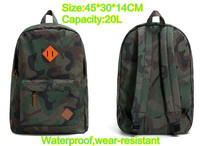 2016 Gsou Snow Army Green Camouflage Ski Snow Backpack 20L High Capacity Waterproof Wear Resistant Travelling