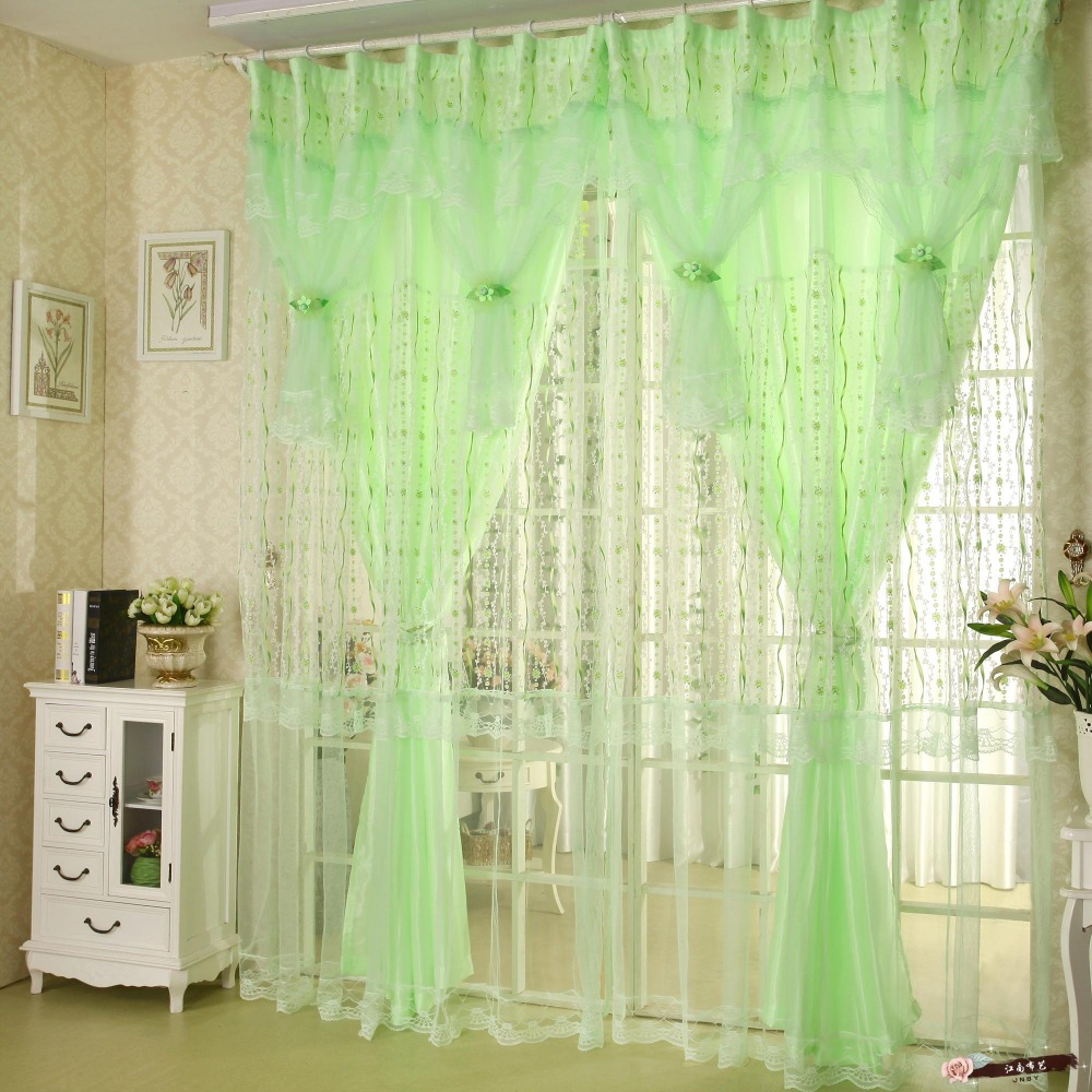 romantic 4 color window curtains set for living room