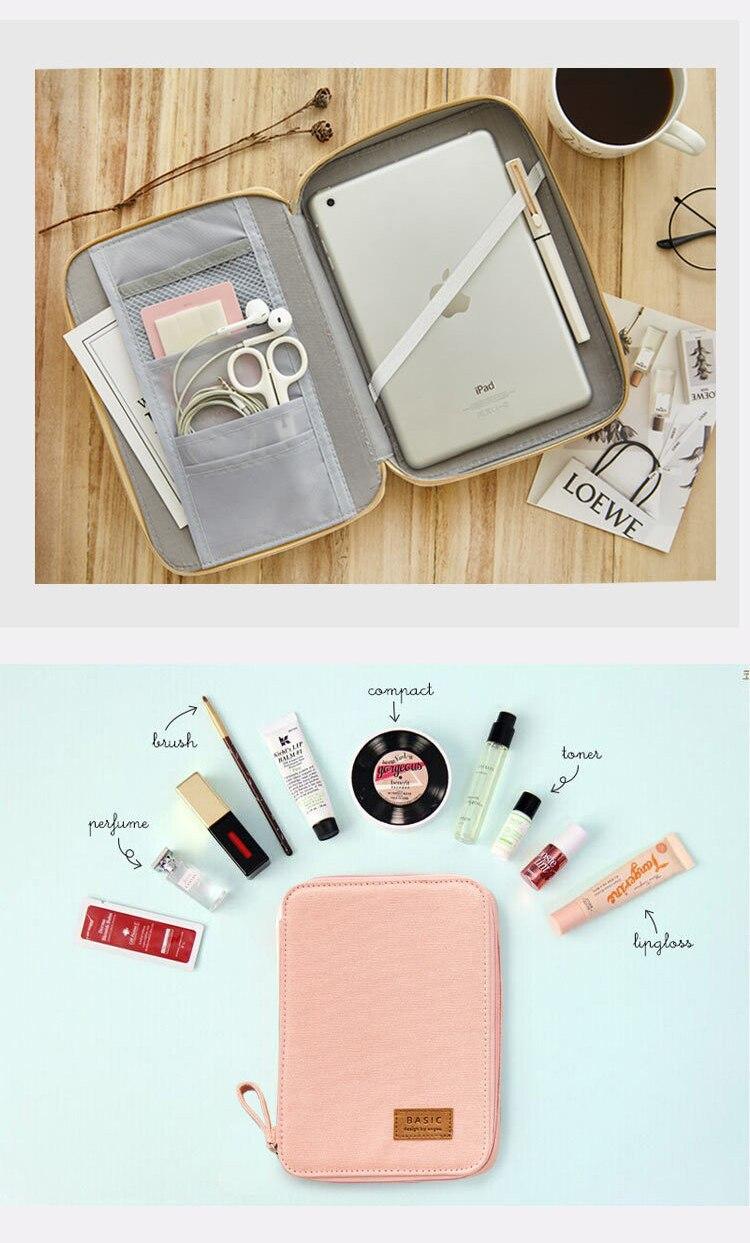 criativo caneta caixa de armazenamento portátil saco
