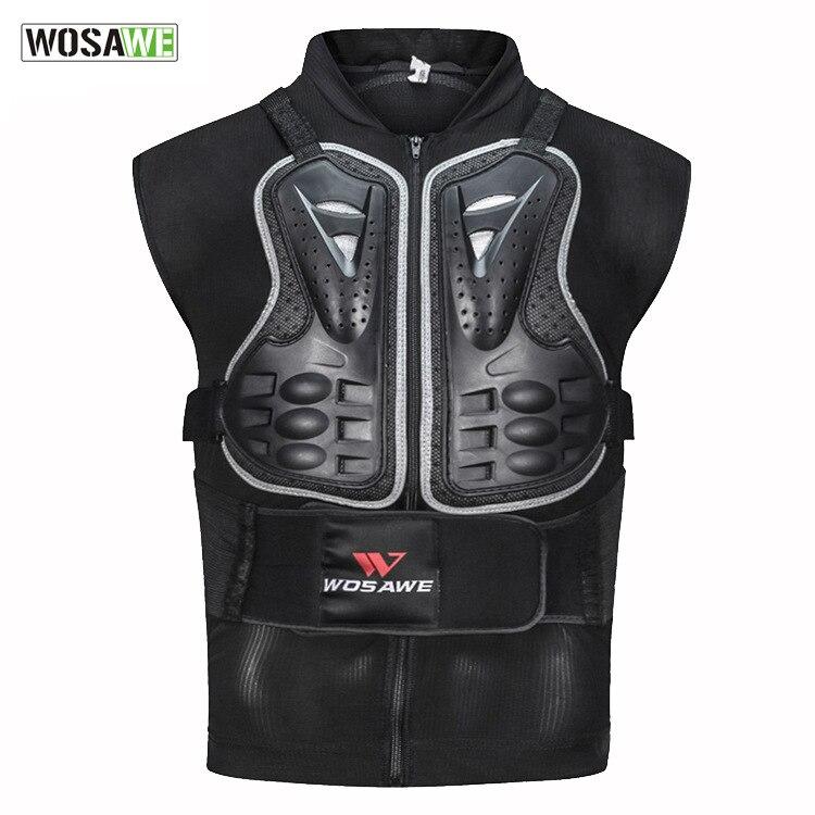 Protetor do Corpo dos Homens da Motocicleta Jaquetas de Volta Escudo sem Mangas Colete Preto Spine Peito Protetor Engrenagens Jaqueta m – 3xl