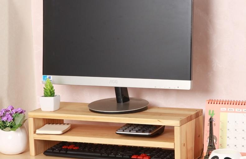 Cheap Desktop Monitors Increased Shelf Bracket Wood Lcd