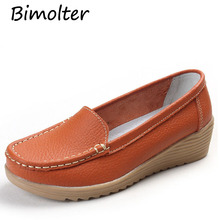 Bimolter Soft Leisure Flats Women Genuine Leather Shoes Moccasins Mother Loafers Casual Female Driving Ballet Footwear LFEA033 цена 2017