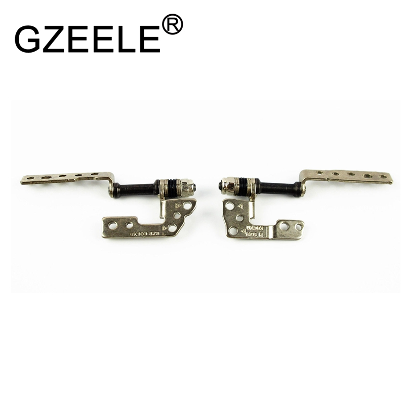 GZEELE New LCD Screen Hinges For Asus Zenbook UX303 UX303LN UX303L UX303LA Series Left & Right Laptop LCD Screen Hinges L+R