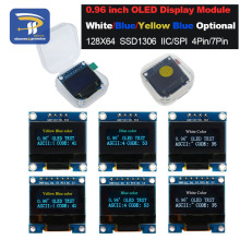 "4pin 7pin белый и синий цвет 0,96 дюйма 128X64 желтый синий OLED дисплей модуль для Arduino 0,9"" IIC IEC SPI связь"