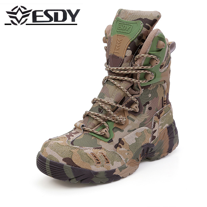 High Quality2017 Outdoor ESDY 6.0 Desert spider tactical Combat boots Men special camouflage hiking shoes trekking Lace Up 39-45 brand fishing waders security staff special forces shoes ski bodyguard women trekking tactical desert climb combat land boots
