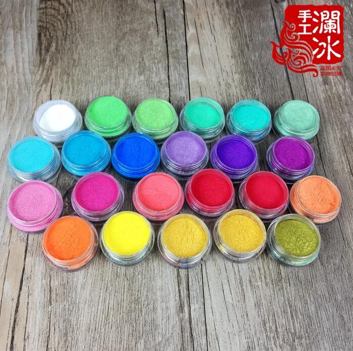 66 ml = 22 Couleurs Minérale Naturelle Cosmétique Mica Perle Pigment Nail Poudre Couleur Nacré pigment, perle lustre pigment, Poudre De Mica
