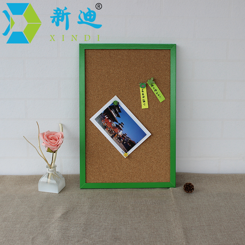 XINDI 2017 Bulletin Cork Board 60*45cm High Quality MDF Wood MDF Framed Message Notes Cork Pin Board Cork With Free Accessories
