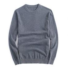 Brand Winter Mens Wool Sweater Fashion Round Collar 100% Merino Wool Casual Pullovers Men Slim Fat Thin Sweater M-3XL AF8621
