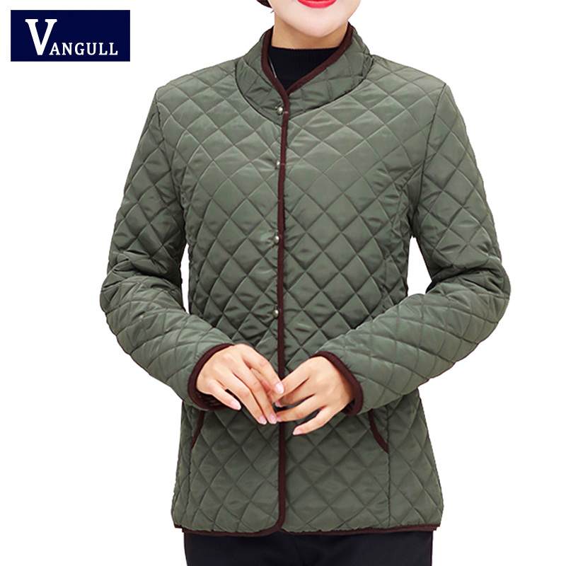 Vangull Jackets Women Coats 2019 Autumn Winter Cotton-padded   Parka   Chaqueta Mujer Jaqueta Plus Size XL~5XL Casaco Short Jacket