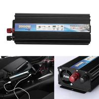 Vehemo 2000W Car Auto Power Inverter Charger Output Socket DC12V To AC110V Portable