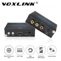 VOXLINK HDMI a $ number RCA AV Compuesto S-video R/L de Audio Adaptador Convertidor de Vídeo PAL/NTSC 720 P/1080 P para el Ordenador Portátil PS3 Xbox TV Blue-Ray