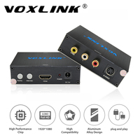 VOXLINK hdmi Composite 3RCA AV S-video R/L Audio Video Converter Adapter PAL/NTSC 720 P/1080 P dla Laptop PS3 Xbox TV Blue-Ray