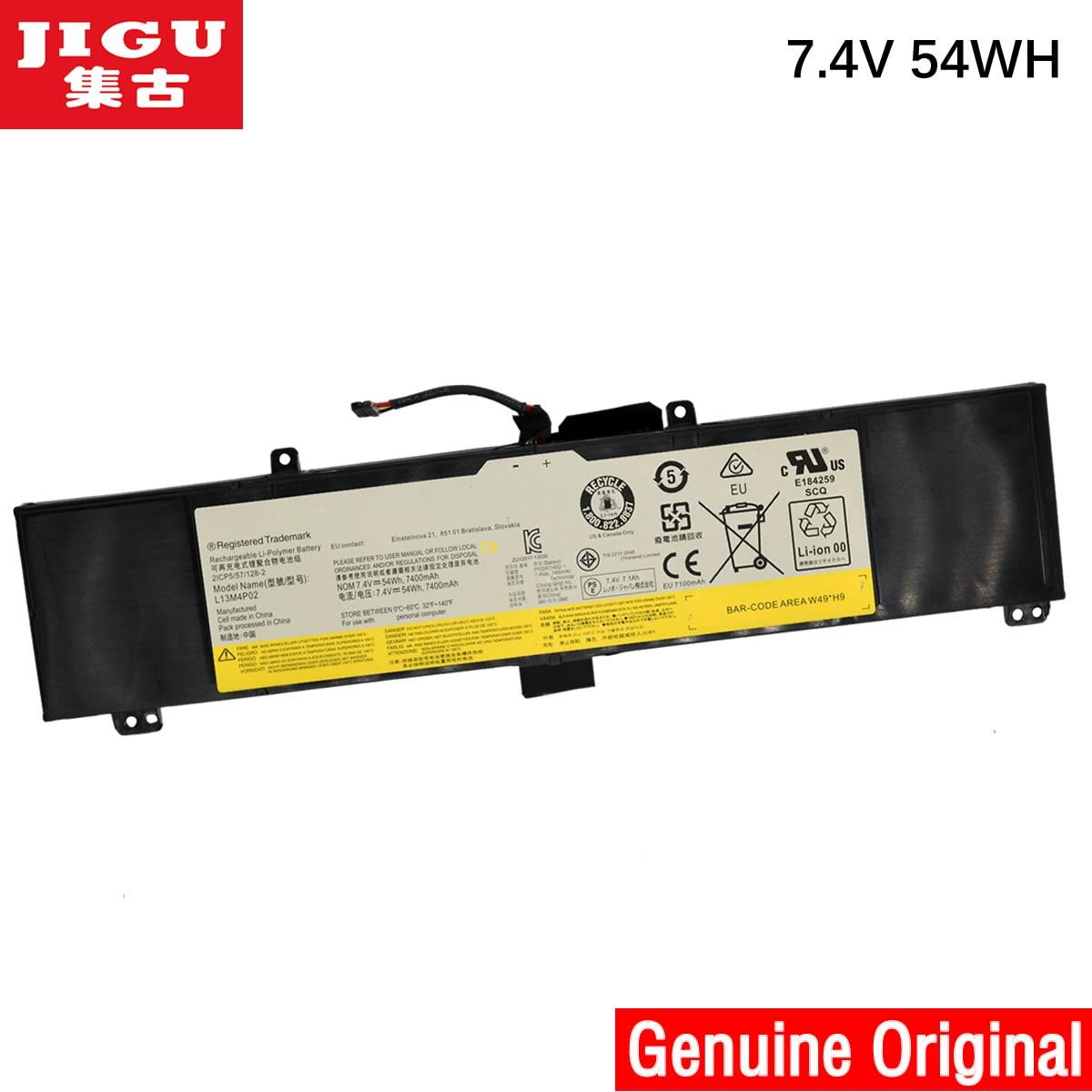 JIGU L13L4P01 L13M4P02 L13N4P01 Original laptop Battery For Lenovo Y50 Y50-70 Y50P Y50-70AM-IFI Y50-70AS-ISE 7.4V 54WH ноутбук lenovo s410 ifi 14