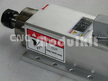 Motor eléctrico de eje aéreo 2,2 kW CNC, fresado de grabado, molienda, rodamiento de cerámica, brida, alas de ventilador, enfriamiento, 220V ER20 CNC MODULKIT
