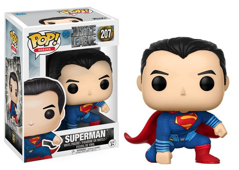 Funko pop Official DC Movies: Justice League - Superman #207 Vinyl Action Figure Collectible Model Toy with Original Box  funko vinyl invaders robot batman pvc action figure collectible model toy 12 30cm