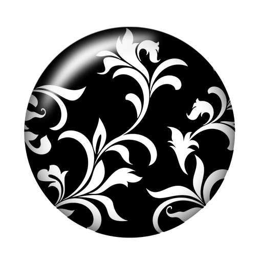 אופנה יופי שחור פרחי דפוס 10 pcs 12mm/18mm/20mm/25mm עגול תמונה זכוכית קרושון הדגמה שטוח חזור ביצוע ממצאי ZB0462
