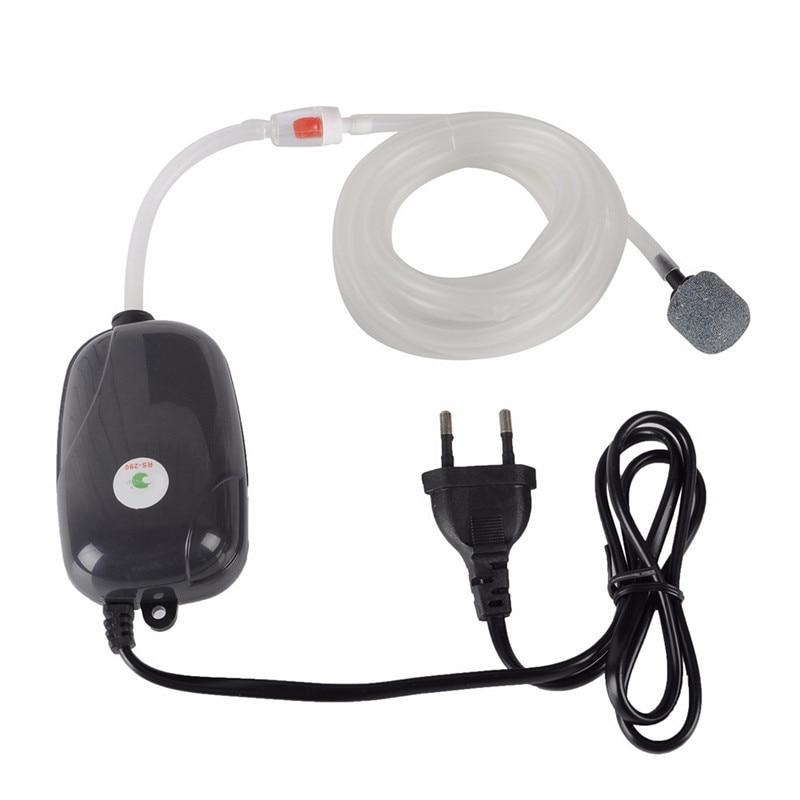 Aquarium Air Pump Fish Tank Mini Compressor Single Double Outlet Oxygen Pumps With Accessories Stone Check Valve Tube 220V 3W 5W 3