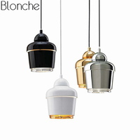 Post modern Metal Pendant Lights Gold Loft Led Hanging Lamp Dining Room Bar Kitchen Industrial Decor Home Lighting Fixtures E27