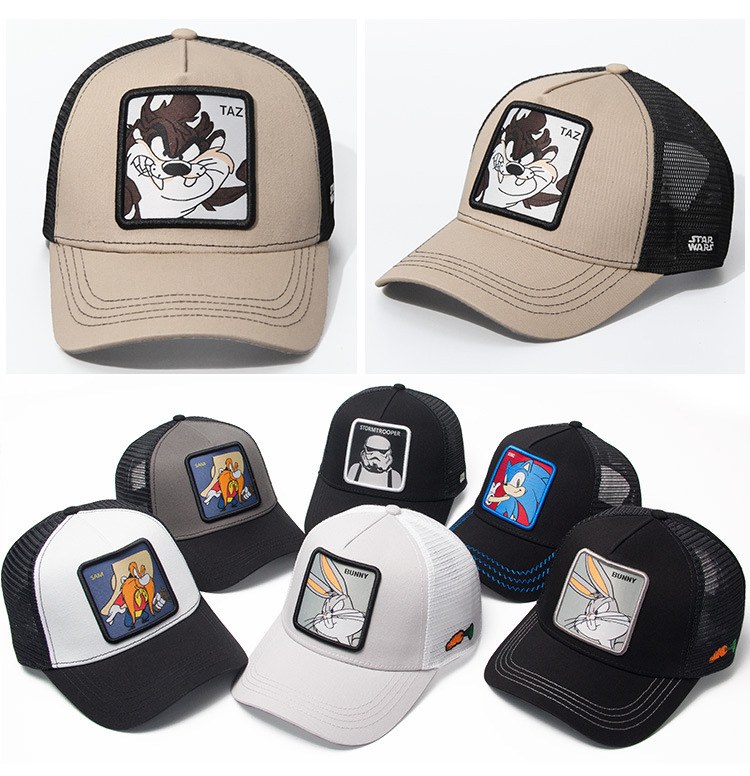 High Quality  Animal TAZ Embroidery 6 Colours Snapback PICCOLO Cotton Baseball Cap Men Women Hip Hop Dad Mesh Hat Trucker Hat