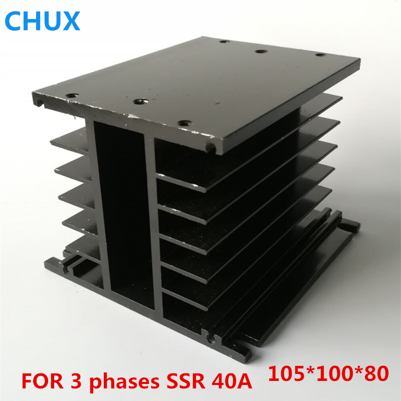 Three phase Solid State Relay heat sink H type 150*100*80 for SSR 40A Aluminum Relay radiator Three phase Solid State Relay heat sink H type 150*100*80 for SSR 40A Aluminum Relay radiator
