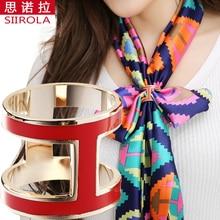Здесь можно купить   Fashion Women High-grade Brass Gold plated letters H Colored enamel Brooch Pins/ Silk scarf accessories/ Scarf buckle ring clips Fashion Jewelry