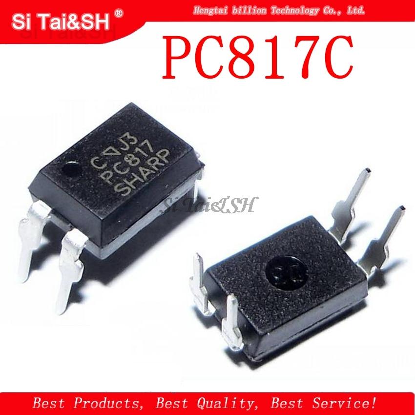 100 Stücke DIP-4 Optokoppler Sharp PC817 EL817C LTV817 PC817-1 Neue Ic hs